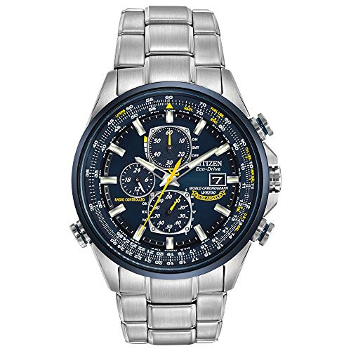Citizen Men's AT8020-54L Blue Angels Stainless Steel Eco-Drive Dress...