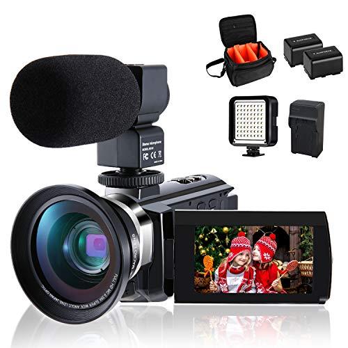 4K Camcorder Vlogging Video Camera for YouTube CofunKool 60FPS 48MP...
