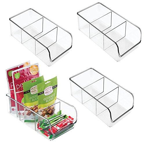 mDesign Plastic Food Packet Kitchen Storage Organizer Bin Caddy -...