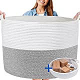 XXXL WASHABLE Blanket Basket Large 2PCs Blanket Storage Living Room -...