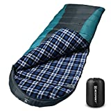 Bessport Sleeping Bag Winter | Flannel Lined 32℉Extreme 3-4 Season...