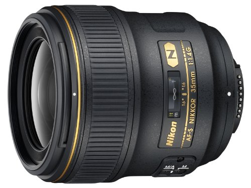 Nikon AF FX NIKKOR 35mm f/1.4G Fixed Focal Length Lens with Auto Focus...