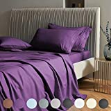 SAKIAO California King Bed Sheets Set - Brushed Microfiber 1800 Thread...