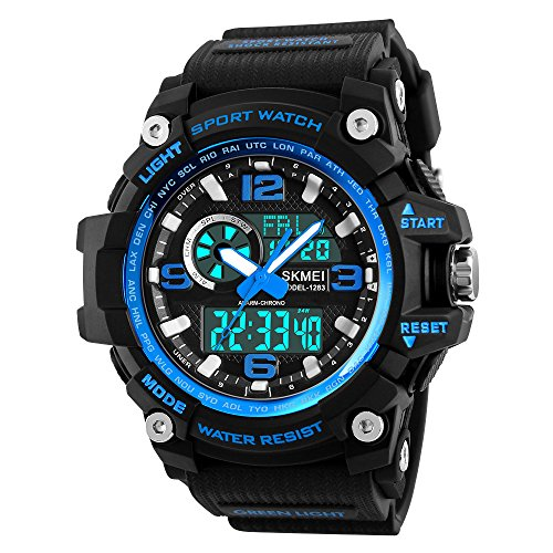 Mens Digital Watches 50M Waterproof Outdoor Sport Watch Military...