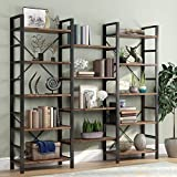 Tribesigns Triple Wide 5-Shelf Bookcase, Etagere Large Open Bookshelf...