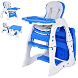 Costzon Baby High Chair, 3 in 1 Infant Table and Chair Set,...