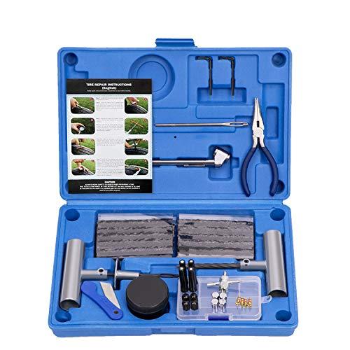 AUTOWN Tire Repair Kit - 67pcs Heavy Duty Tire Repair Tools & Tire...