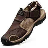 visionreast Mens Leather Sandals Outdoor Hiking Sandals Waterproof...