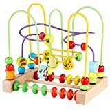 Bead Maze Toy for Toddlers Wooden Colorful Roller Coaster Educational...