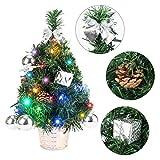 EFORINK Mini Christmas Tree with Lights 18' Prelit Artificial Xmas...