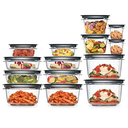 Rubbermaid Meal Prep Premier Food Storage Container, 28 Piece Set,...