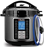 Mueller 6 Quart Pressure Cooker 10 in 1, Cook 2 Dishes at Once,...