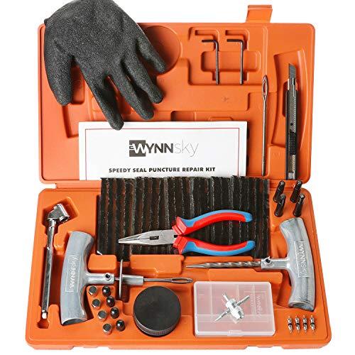 WYNNsky Heavy Duty Tire Repair Tools Kit - 60 Pcs Set Truck Tool Box...