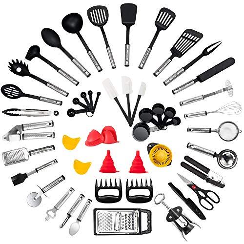 Kitchen Utensil Set - 50-Piece Cooking Utensils - Nylon and Stainless...