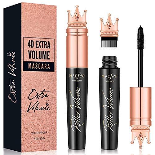 Glossiva 4D Silk Fiber Lash Mascara with Brush- Waterproof,...