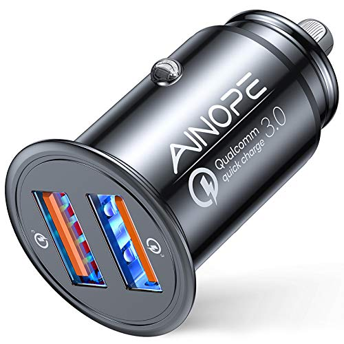 AINOPE USB Car Charger, [Dual QC3.0 Port] 36W/6A [All Metal] Fast Car...