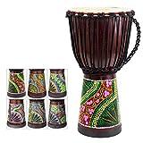 African Drum, Hand-Painted Bongo Congo Djembe Drum 9.5'' x 20''...