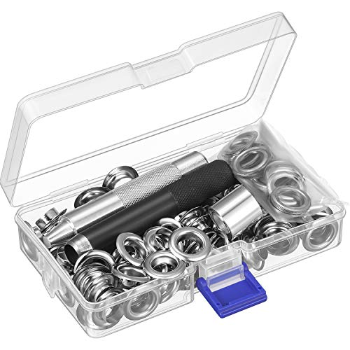 Pangda Grommet Tool Kit, Grommet Setting Tool and 100 Sets Grommets...