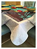 Brilliant Home Design First Quality Quilted Table Protectors - Quilted...