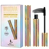 2 Pack 4D Silk Fiber Lash Mascara, Mascara Black Volume and Length...
