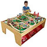 KidKraft Waterfall Mountain Wooden Train Set & Table with 120 Pieces,...