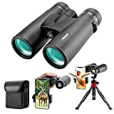 12x42 HD Binoculars for Adults with Upgraded Phone Adapter, Tripod and...