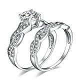 JewelryPalace Wedding Bands Engagement Rings for Women, 14K Gold...