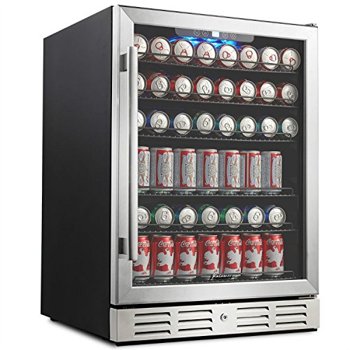 Kalamera 24' Beverage Refrigerator 175 Can Built-in Single Zone Touch...