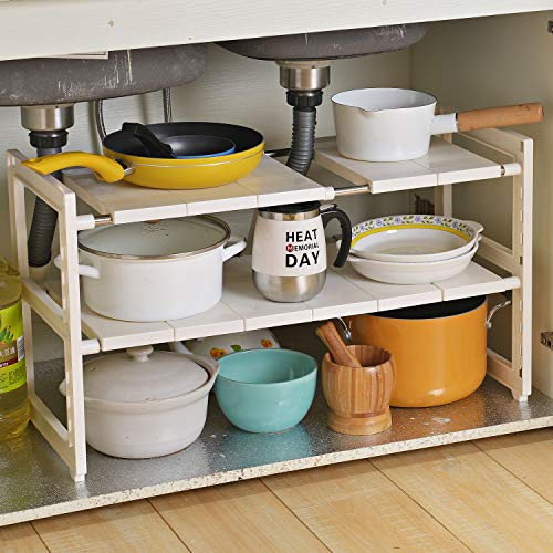 OBOR Expandable Under Sink Organizer - 2 Tier Multifunctional Storage...