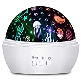 Moredig Kids Night Light, 360° Rotating Starry Night Light Projector...