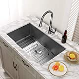 Kitchen Sink, MENSARJOR 32'' x 19'' Undermount Single Bowl 16 Gauge...