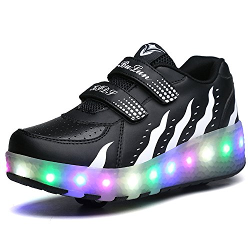 Ufatansy LED Fashion Sneakers Kids Girls Boys Light Up Wheels Skate...