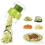 Handheld Spiralizer Vegetable Slicer, Adoric 4 in 1 Heavy Duty Veggie...