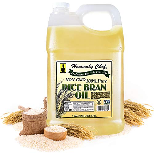 RICE BRAN OIL | 1 Gallon (128 Ounces) | Kosher | All- Natural, Made...