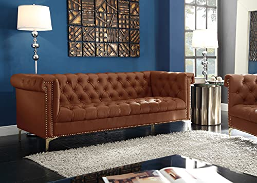 Iconic Home Winston PU Leather Modern Contemporary Button Tufted with...