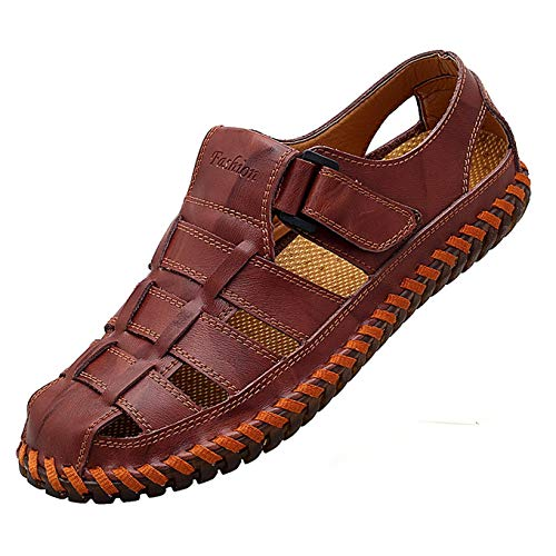 Qiucdzi Mens Sport Sandals Breathable Outdoor Fisherman Shoes...