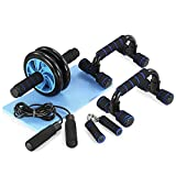 TOMSHOO 5-in-1 AB Wheel Roller Kit AB Roller Pro with Push-UP Bar,...