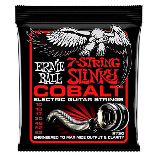 Ernie Ball Cobalt 7-String Skinny Top Heavy Bottom Slinky Set, .010 -...