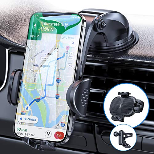 Dash Car Phone Holder No Block Come with Strong Sticky Pad,Universal...