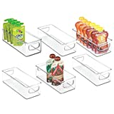 mDesign Stackable Plastic Kitchen Pantry Cabinet, Refrigerator or...