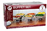 24 Piece Party Serving Kit Includes Chafing Kits and Serving Utensils...