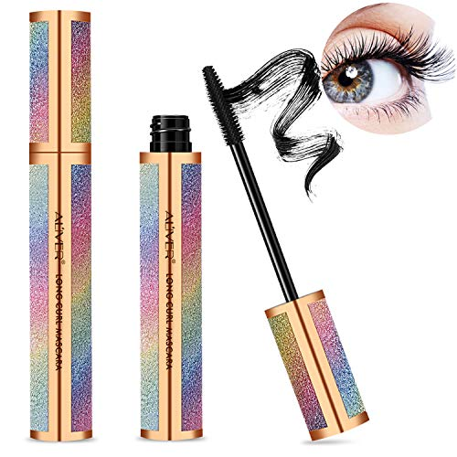 4D Silk Fiber Lash Mascara, Mascara Black Volume and Length Lasting...