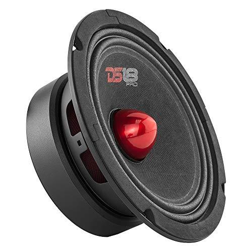 DS18 PRO-GM8B Loudspeaker - 8', Midrange, Red Aluminum Bullet, 580W...