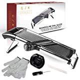 Gramercy Kitchen Co. Adjustable Stainless Steel Mandoline Food Slicer...