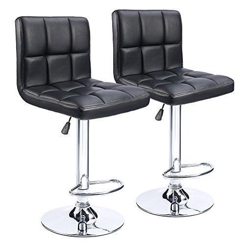 Homall Bar Stools Modern PU Leather Adjustable Swivel Barstools,...