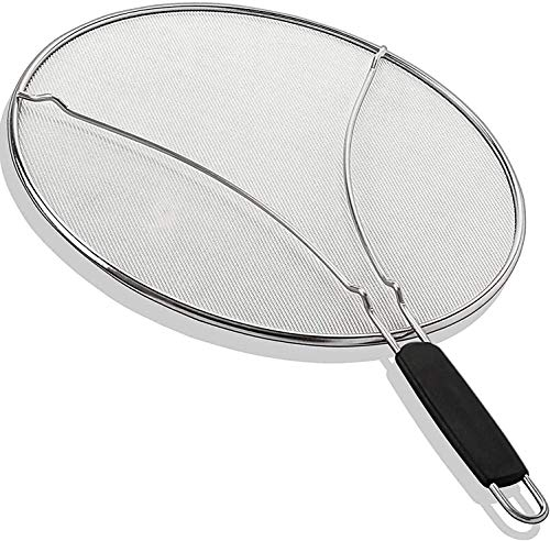 KITCHENISTIC 13' Splatter Screen with Soft Grip TPR Handle - Stops 99%...