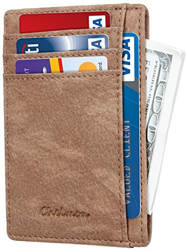 Chelmon Slim Wallet RFID Front Pocket Wallet Minimalist Secure Thin...