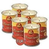 Ner Mitzvah 1 Day Yartzeit Candle - 6 Pack - 24 Hour Kosher Yahrtzeit...