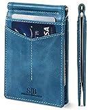 SERMAN BRANDS RFID Blocking Wallet Slim Bifold - Genuine Leather...