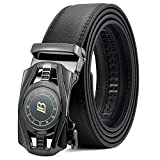 BOSTANTEN Men's Leather Ratchet Dress Belt with Automatic Sliding...